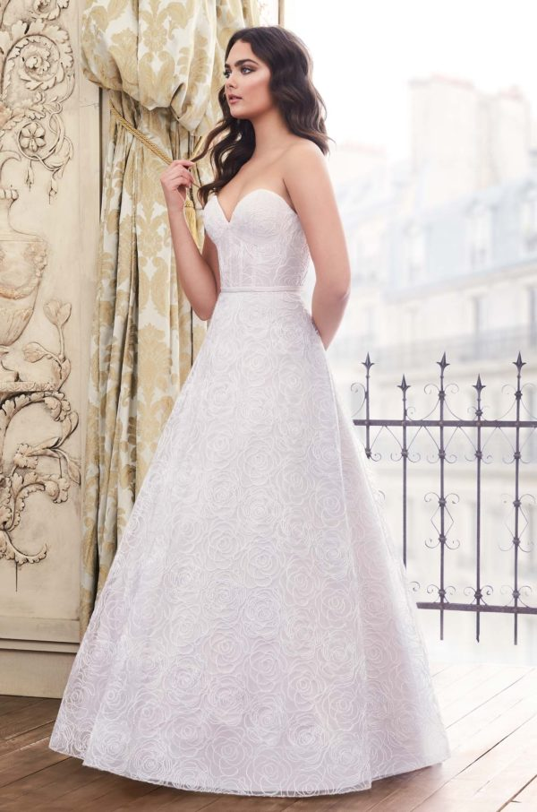 Mira Couture Paloma Blanca 4871 Wedding Dress Bridal Gown Chicago Boutique Front