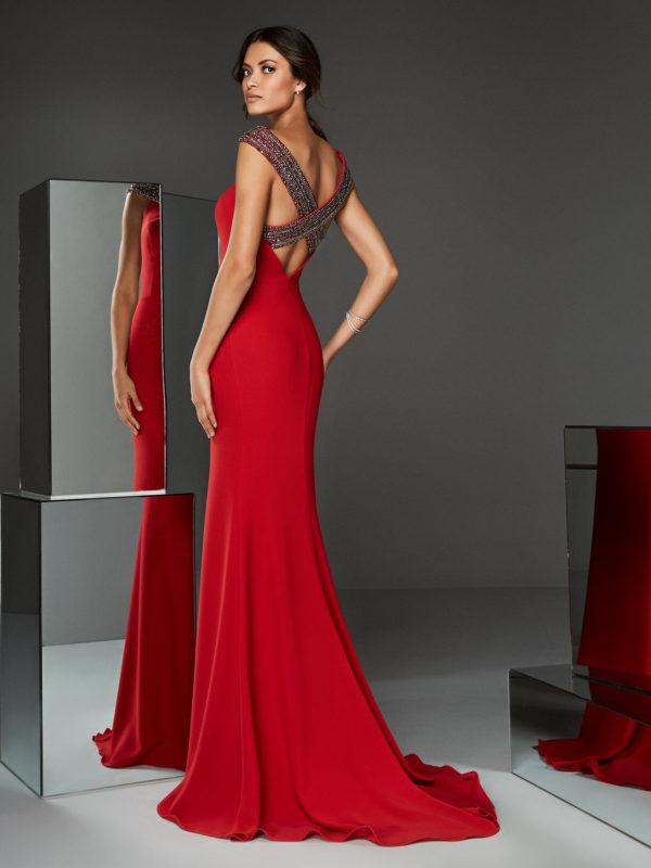 Mira Couture Pronovias ATOS Style 4 Evening Formal Wear Chicago Boutique Back
