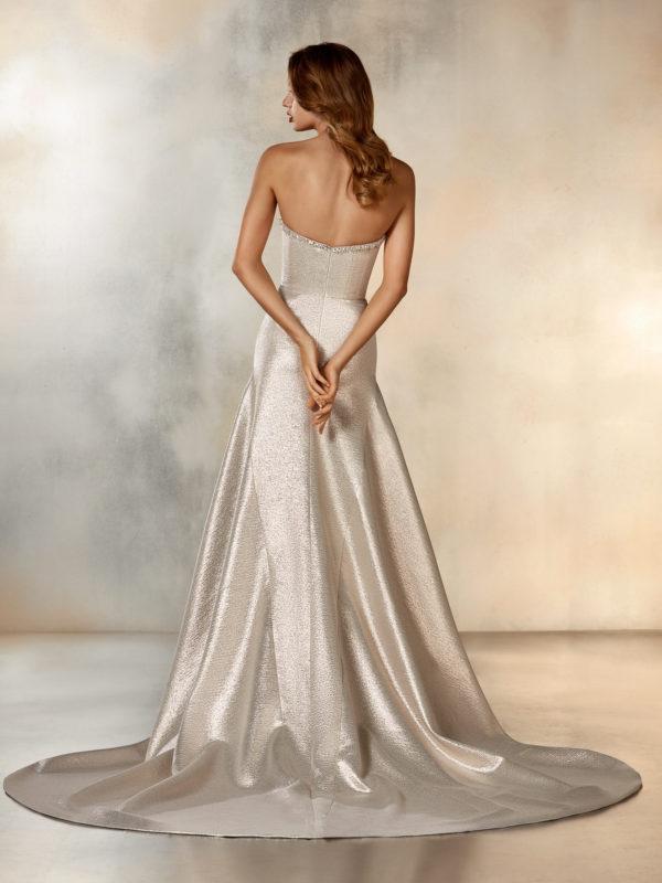Mira Couture Pronovias Rising Wedding Dress Bridal Gown Barcelona Designer Chicago Boutique Back