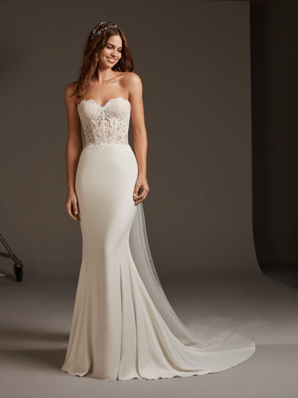 Mira Couture Pronovias Vela Wedding Dress Bridal Gown Barcelona Designer Chicago Boutique