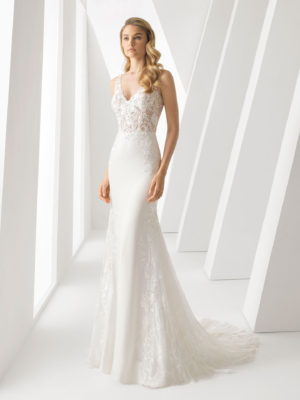 Mira Couture Rosa Clara Danielle Wedding Dress Bridal Gown Chicago Boutique Front