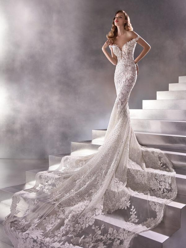 Mira Couture Atelier Pronovias Asteroid Wedding Dress Bridal Gown Chicago Boutique2