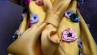 Yellow Gown w Floral Applique